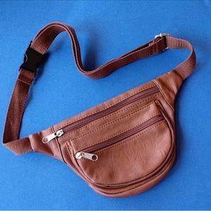 Handbags - No Brand Brown Faux Leather Fanny Pack Clout Pack
